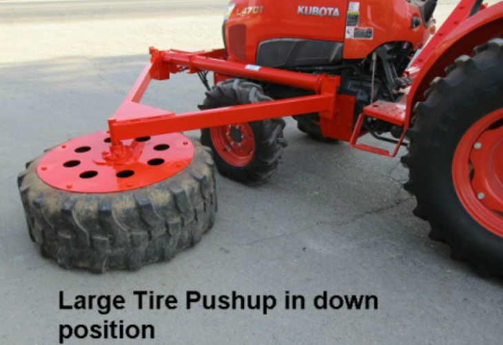 Side Mounted Tractor Tire Pushup tulare