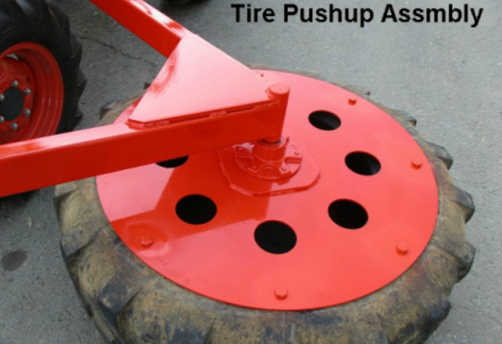Side Mounted Tractor Tire Pushup services tulare