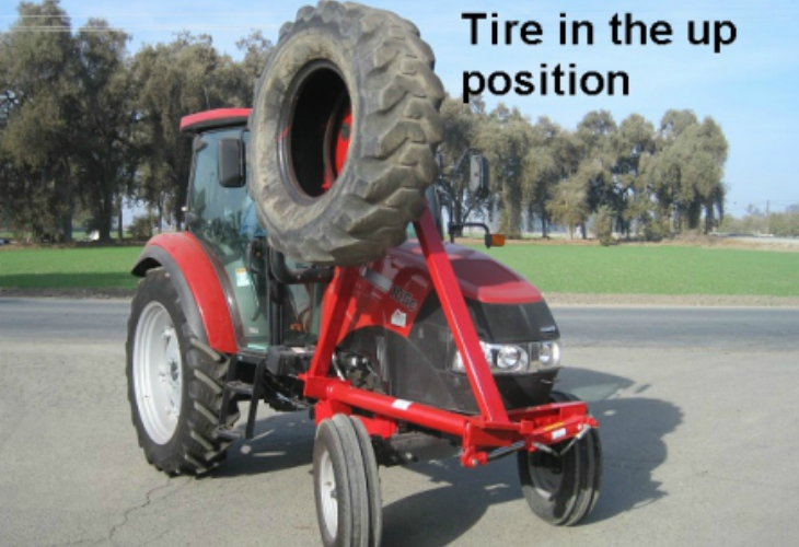 Side Mounted Tractor Tire Pushup services In tulare