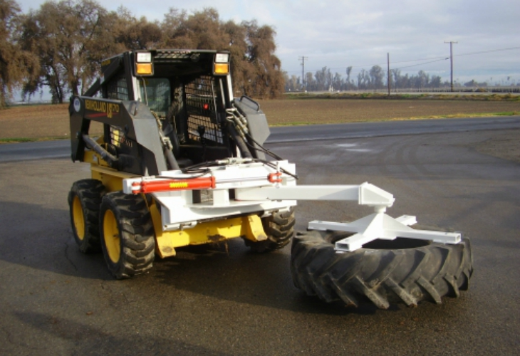 Skid Steer Tire Push Up services tulare