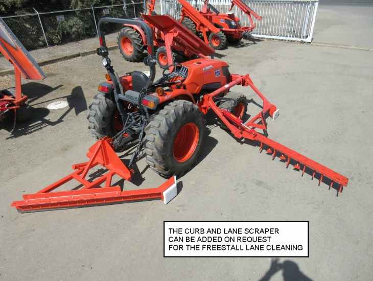 rental Pushup/Free Stall Rakes services tulare
